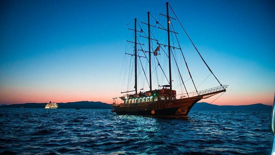 SHIP on water santorini, Greece
