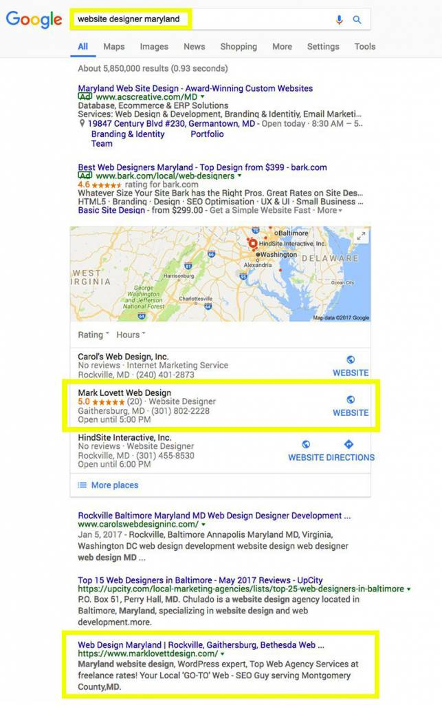 maryland seo company results