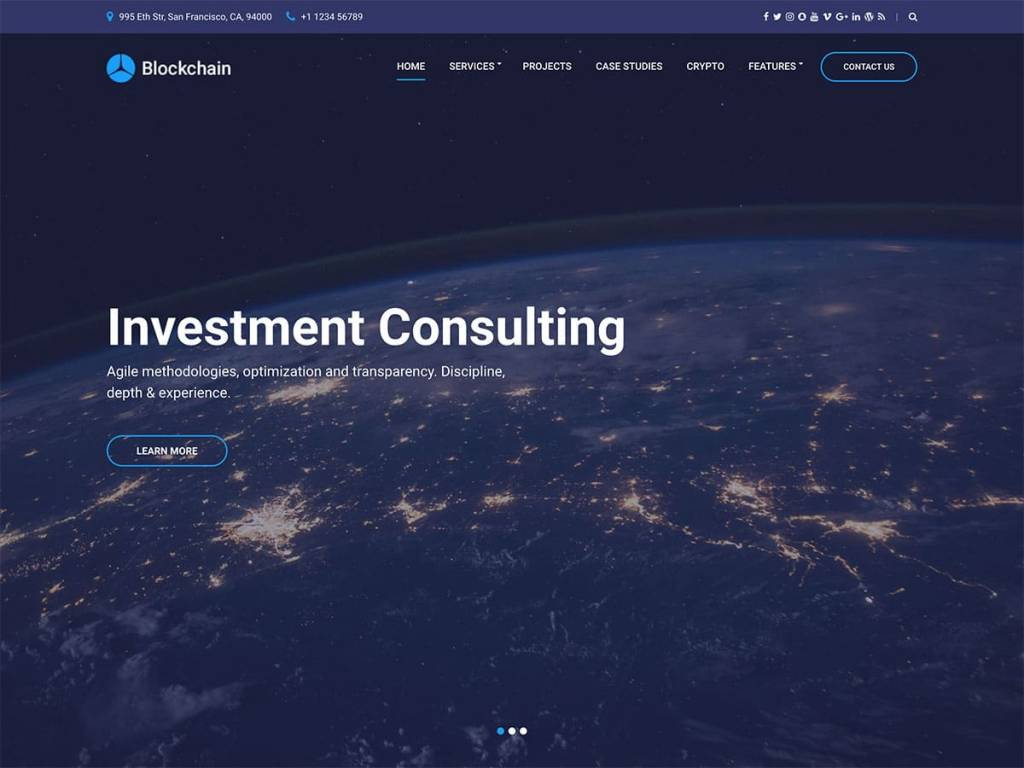 Blockchain-cryptocurrency-wordpress-theme