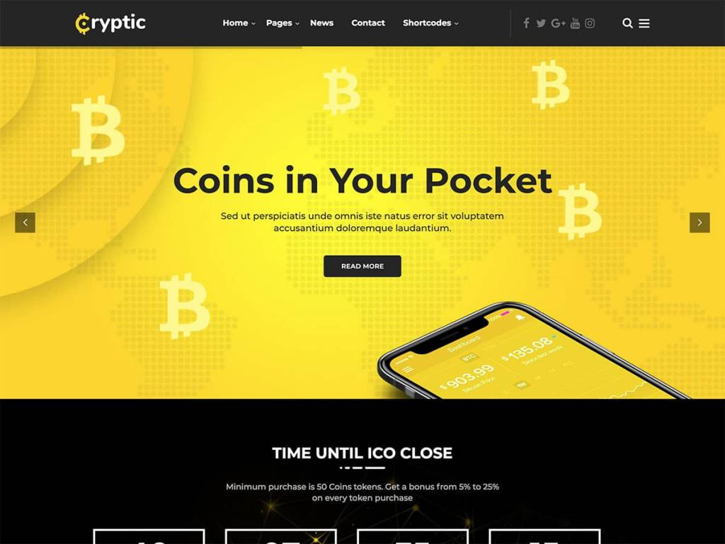 Cryptic-Cryptocurrency-WordPress-Theme