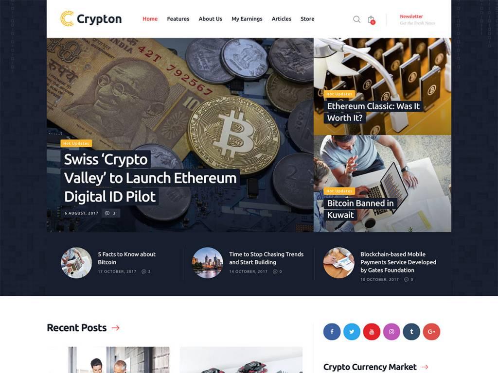 Crypton-Cryptocurrency-WordPress-Theme