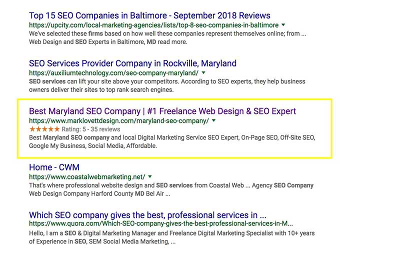 schema markup rich snippets example